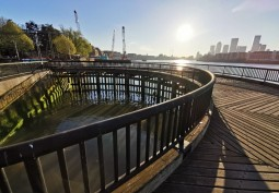Jetty In London For Filming