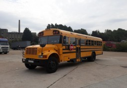 American School Bus For Filming