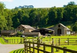Welsh Farm Yard Barns On Country Estate