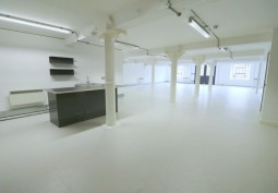 White Concrete Warehouse And Office Available For Filming
