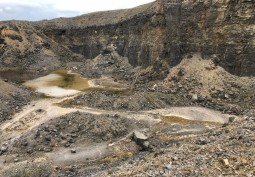 Dramatic Rock Quarry For Filming
