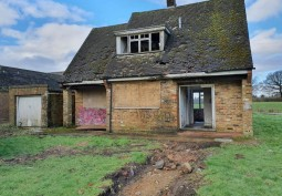Rural Farmland With Derelict Building For Filming