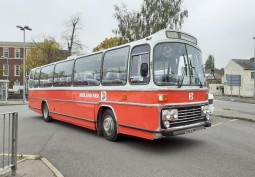 Red Coach In West Midlands For Filming