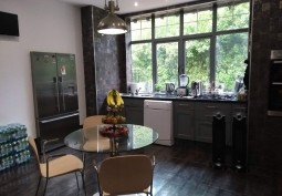 Kitchen (Coloured units),Kitchen With Table